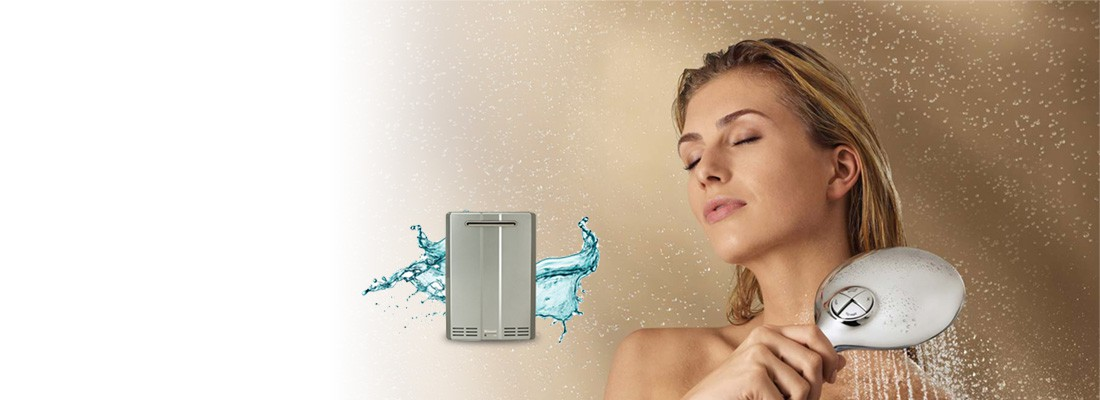 tankless water heater shower