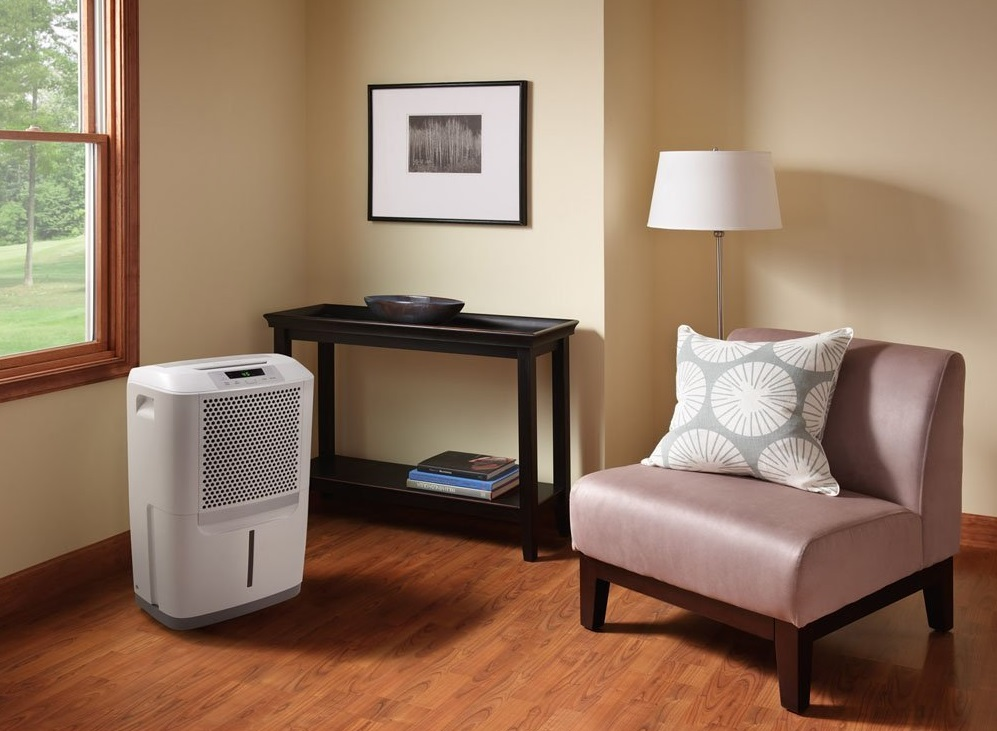 Dehumidifier improving home living room