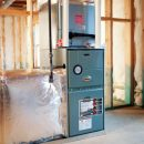 heating cooling systems in basement.
