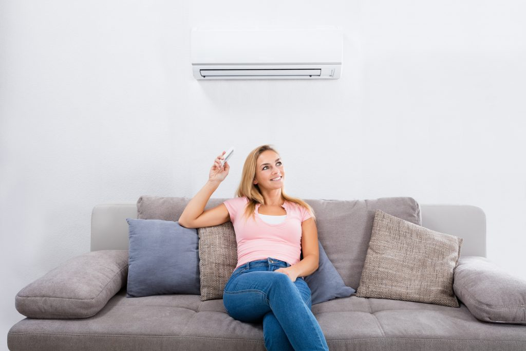 Ductless air conditioning in home